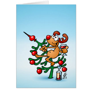 Reindeer in a Christmas tree Greeting Card