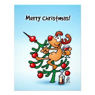 Reindeer in a Christmas tree Custom Invites