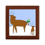 Reindeer in Snow Banks Gift Box