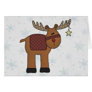 Reindeer in Snow Card