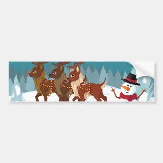 Reindeer in the Snow Bumper Stickers