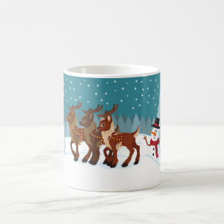 Reindeer in the Snow Coffee Mug