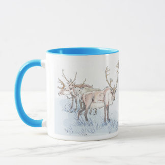 Reindeer in the Snow Mug
