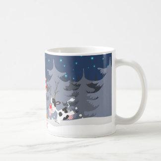 Reindeer in the snow mug
