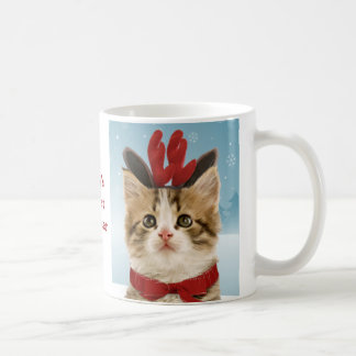 Reindeer Kitten Christmas Mug