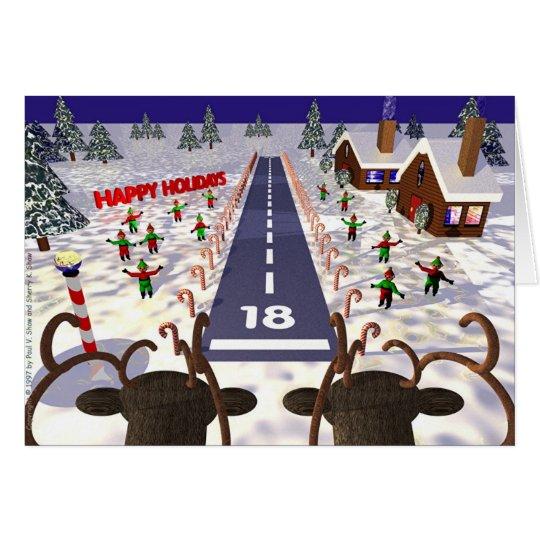 Reindeer Landing Card
