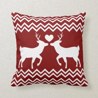 Reindeer Love Christmas Pillow