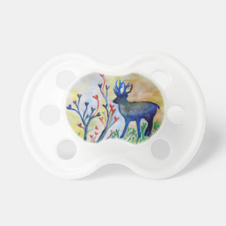 Reindeer Love Hearts Autumn Watercolor  Pacifier