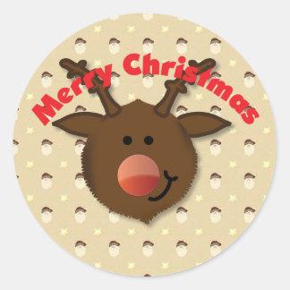 Reindeer Merry Christmas sticker
