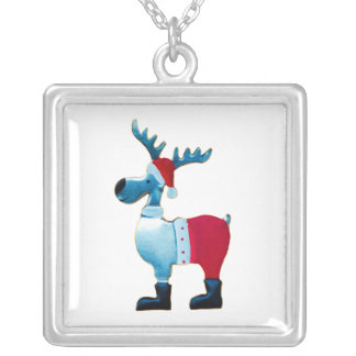 Reindeer metal Christmas decoration Custom Necklace