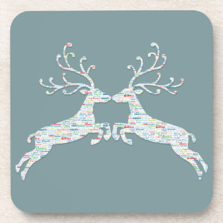 Reindeer Names Cut Outs Coaster