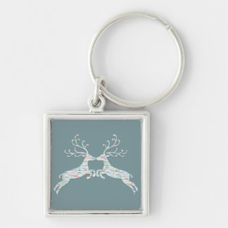 Reindeer Names Cut Outs Key Ring