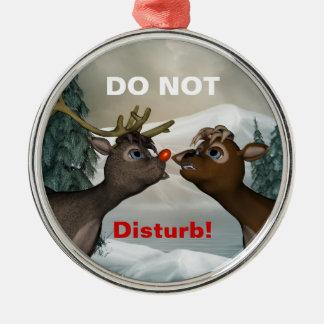 Reindeer Newly Weds Door Hanger Ornament