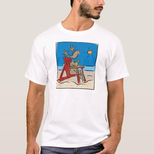 Reindeer on the Beach T-Shirt