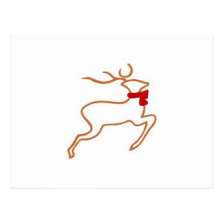 Reindeer Outline Postcard