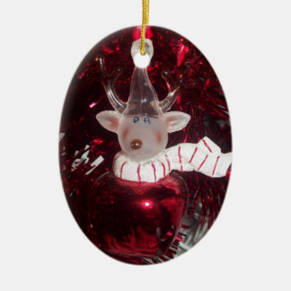 Reindeer Oval Ornament
