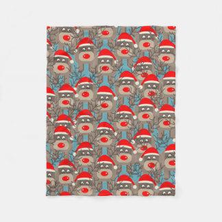 Reindeer Pattern Fleece Blanket