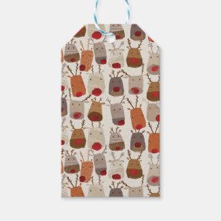 Reindeer Pattern Gift Tags