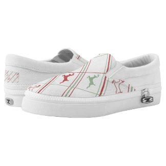 Reindeer Pattern Slip-On Shoes