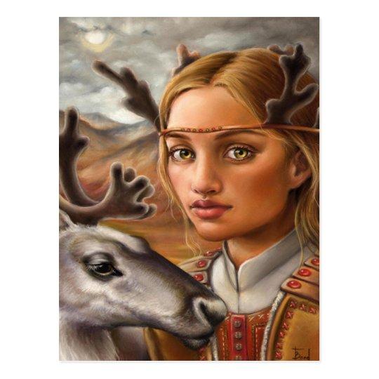 Reindeer People Postcard