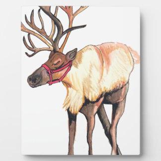 Reindeer Plaque