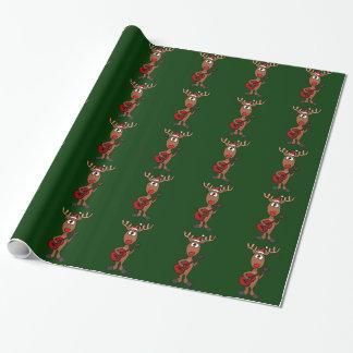 Reindeer Playing Guitar Gift Wrap