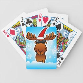 Reindeer Playing Santa Bicycle Playing Cards