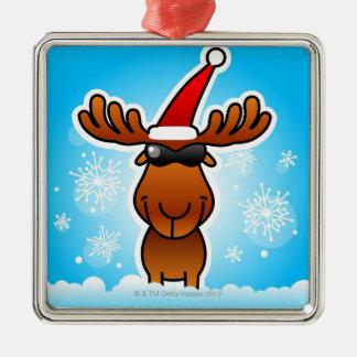 Reindeer Playing Santa Christmas Ornament