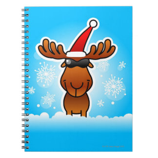 Reindeer Playing Santa Notebooks