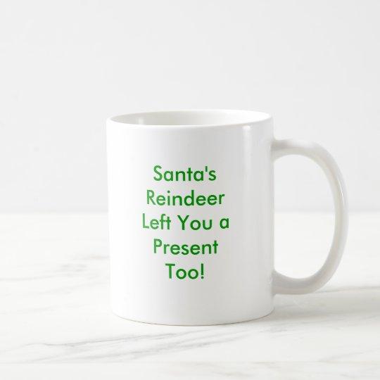 Reindeer Poop Homemade Gag Gifts Coffee Mug