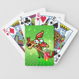 Reindeer Presents Bicycle Playing Cards