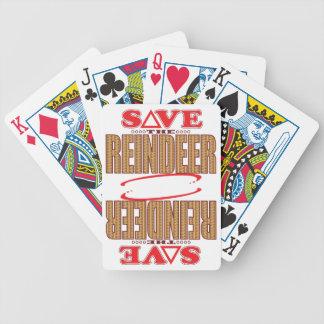 Reindeer Save Bicycle Playing Cards