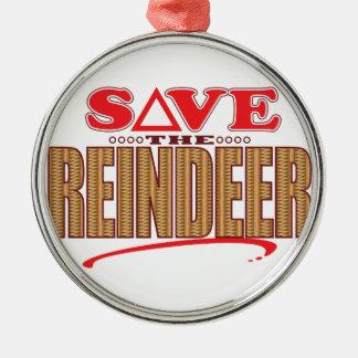 Reindeer Save Christmas Ornament