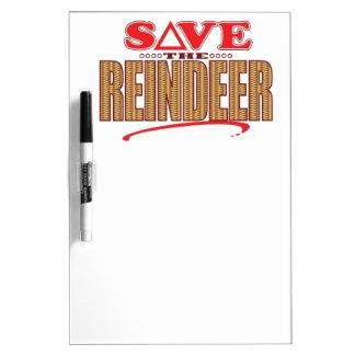 Reindeer Save Dry Erase Board