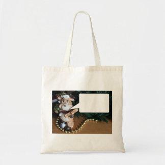 Reindeer Says... Blank Budget Tote Bag
