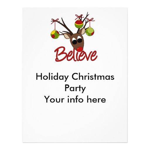 Reindeer Season's Christmas Greetings Flyer