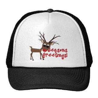Reindeer Season's Greetings Cap