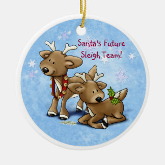 Reindeer - Sibling or Twin Ornament