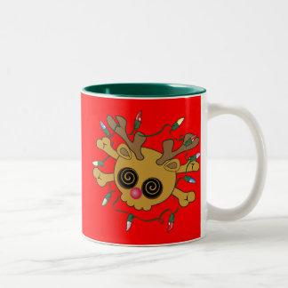 Reindeer Skull Two-Tone Coffee Mug