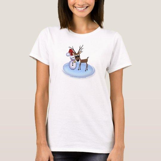 Reindeer Snowman T-shirt
