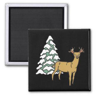 Reindeer Square Magnet