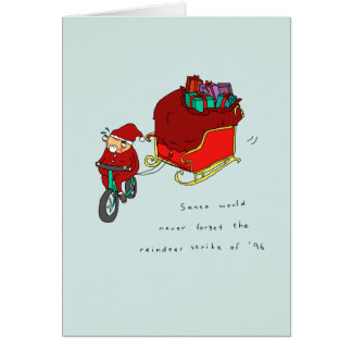 Reindeer Strike | Funny Cycling Christmas Card