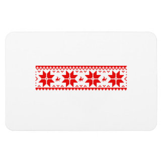 Reindeer Sweater Pattern Vinyl Magnet