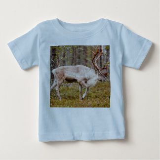 Reindeer walking in forest baby T-Shirt