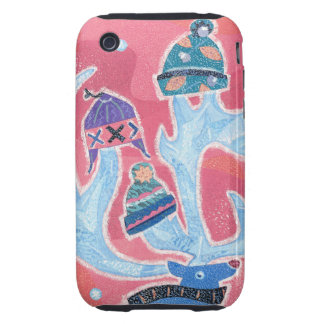 Reindeer wearing many Hats in Winter Christmas iPhone 3 Tough Case