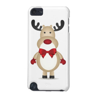 Reindeer Wearing Red Bow Tie iPod Touch (5th Generation) Covers