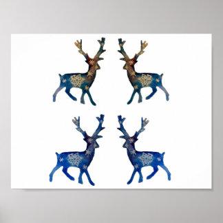 Reindeer Winter Mood Value Poster Paper (Matte)