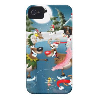 Reindeer winter wonderland Case-Mate iPhone 4 cases