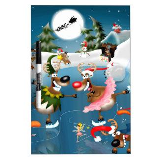 Reindeer winter wonderland dry erase board