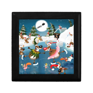 Reindeer winter wonderland gift box